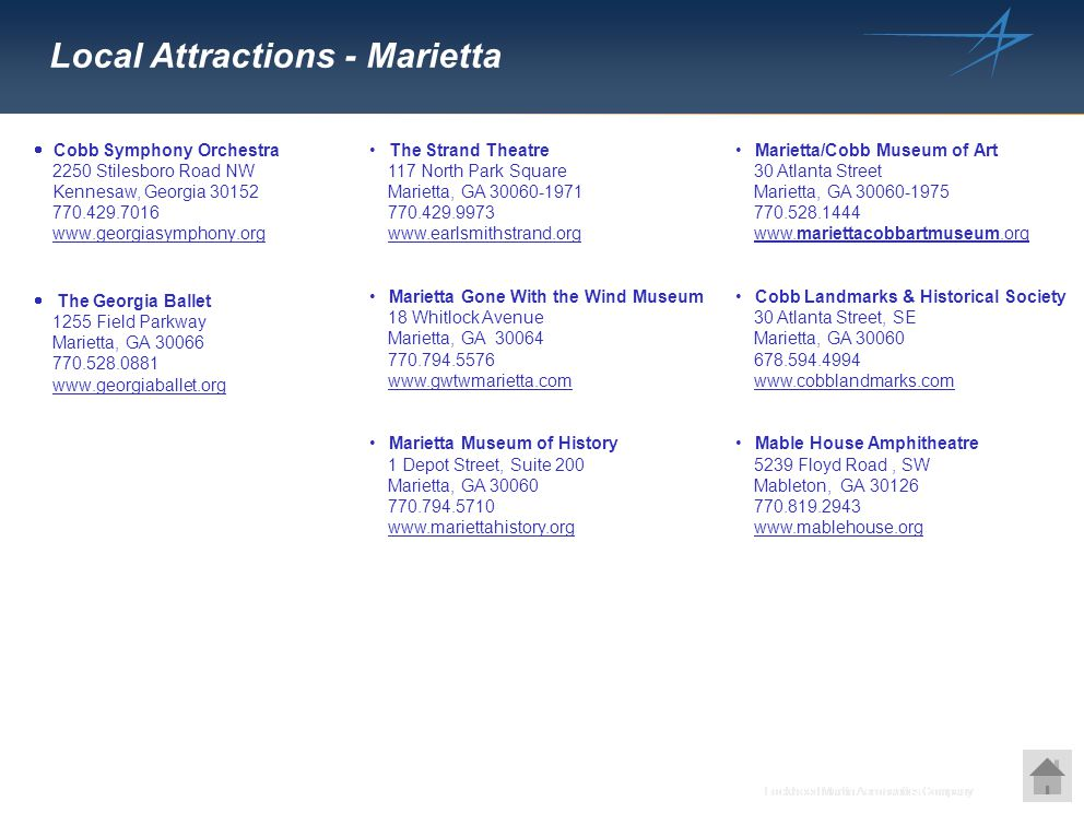 Local Attractions - Marietta
