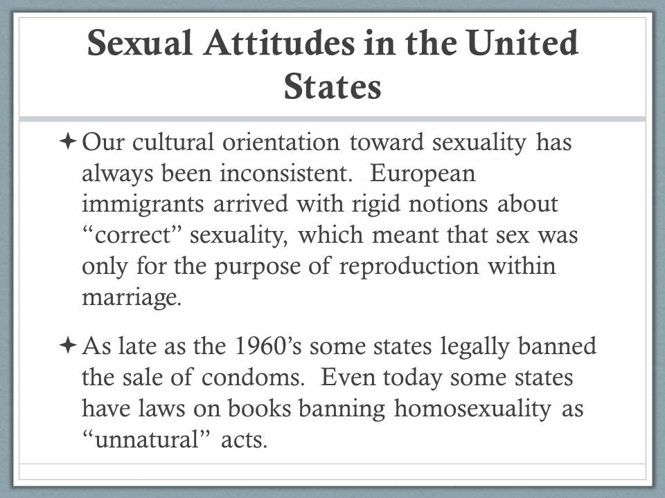Sexual Attitudes in the United States