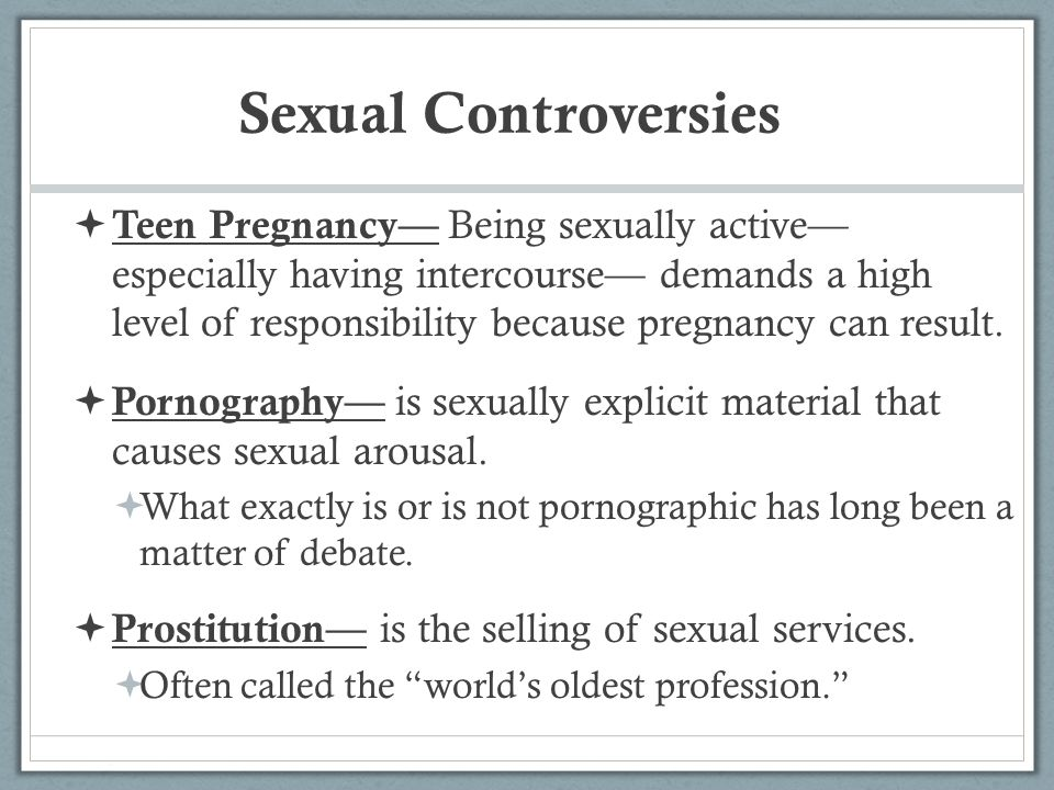 Sexual Controversies