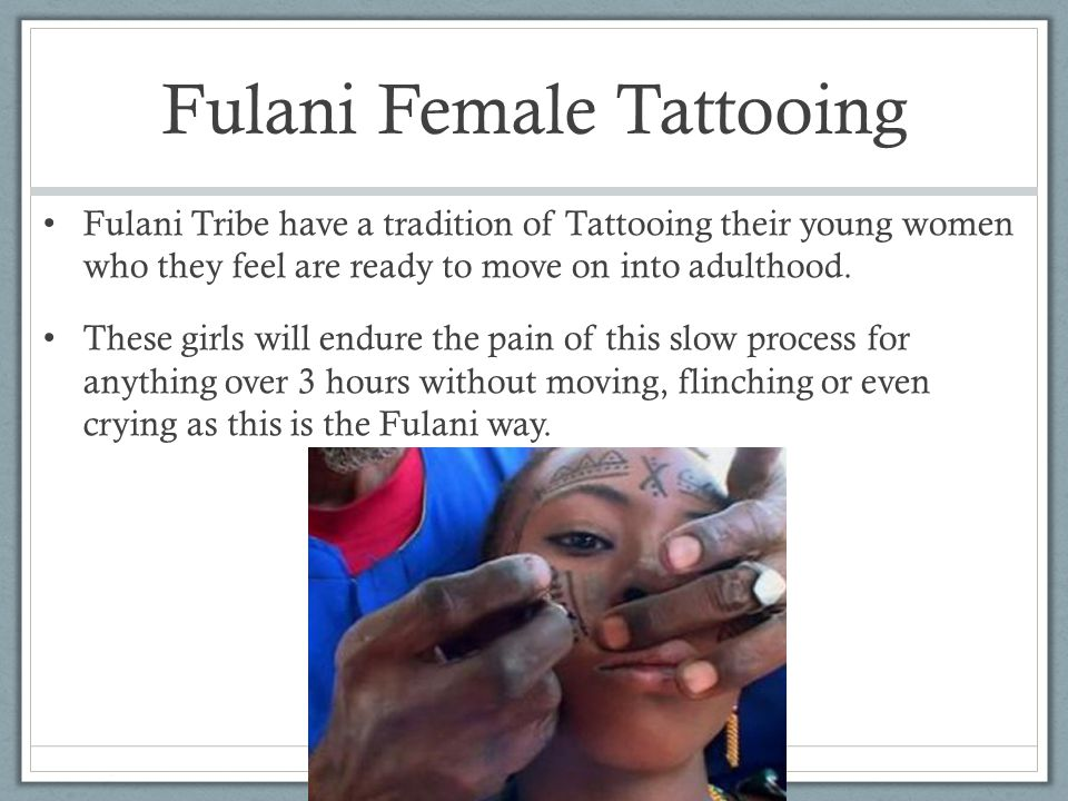 Fulani Female Tattooing