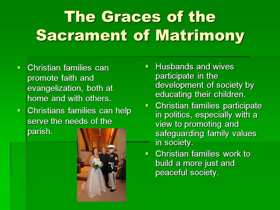 The Graces of the Sacrament of Matrimony