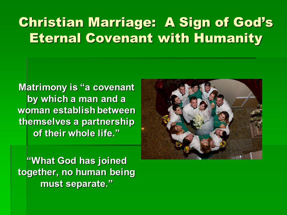Christian Marriage: A Sign of God's Eternal Covenant with Humanity