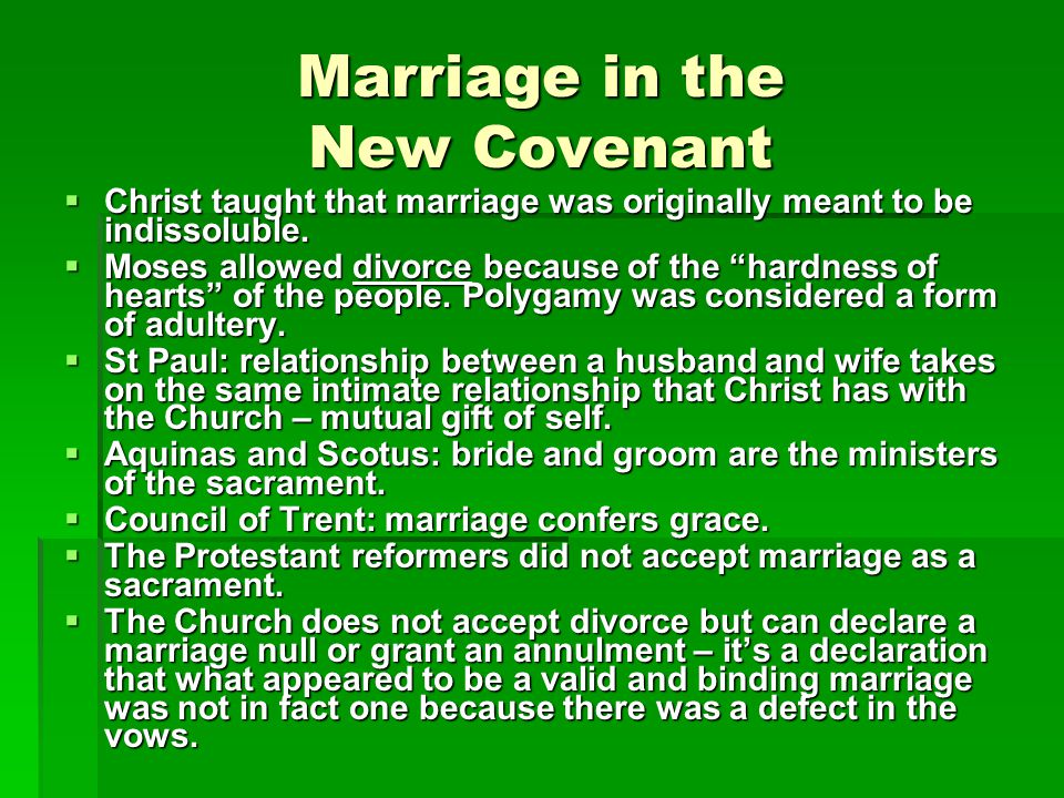 Marriage in the New Covenant