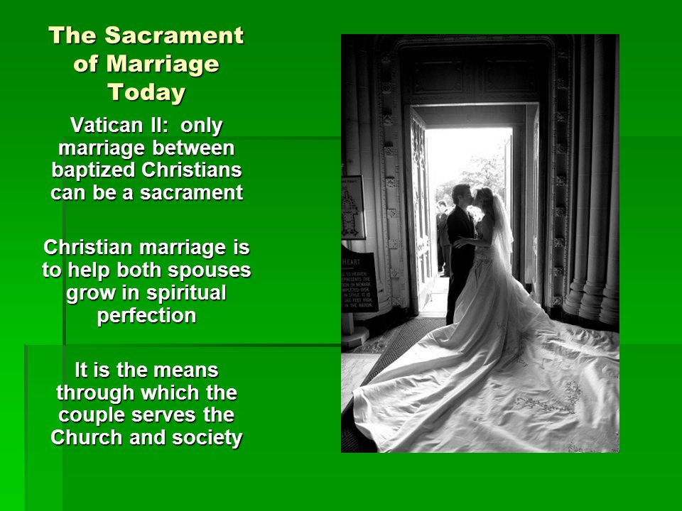 The Sacrament of Marriage Today
