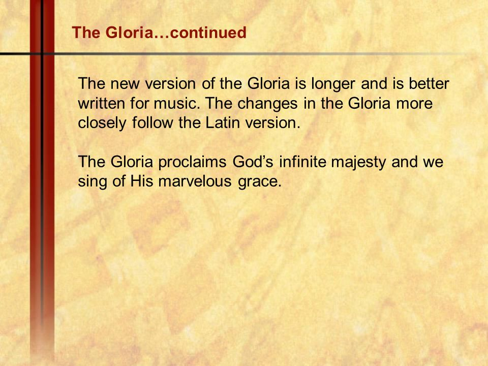 The Gloria…continued