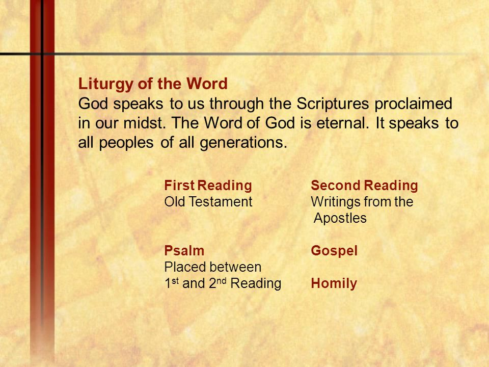 Liturgy of the Word