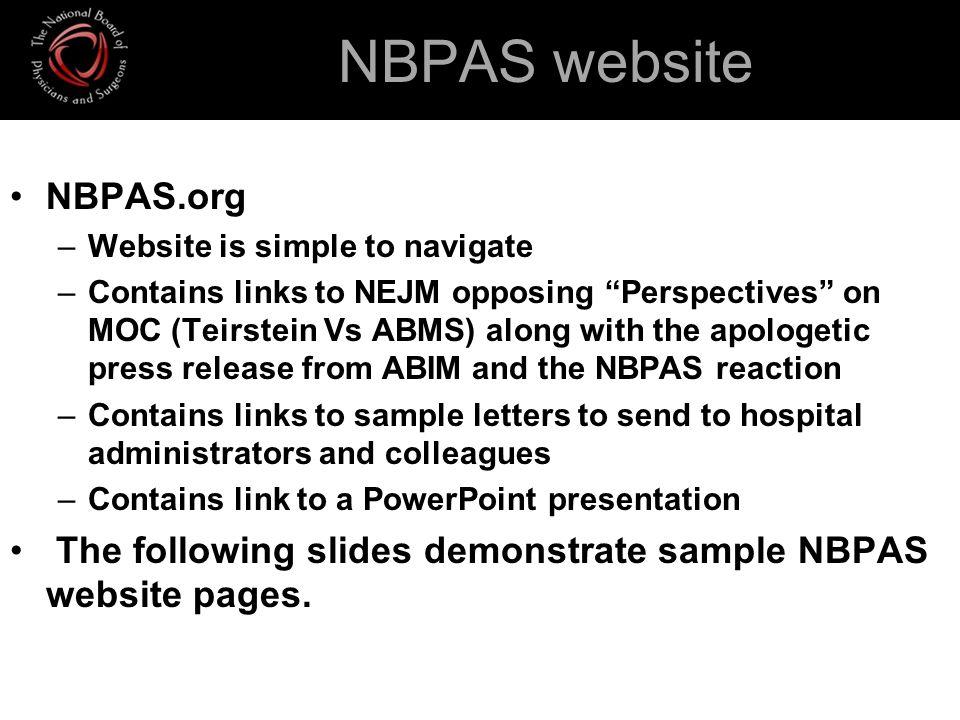 NBPAS website NBPAS.org
