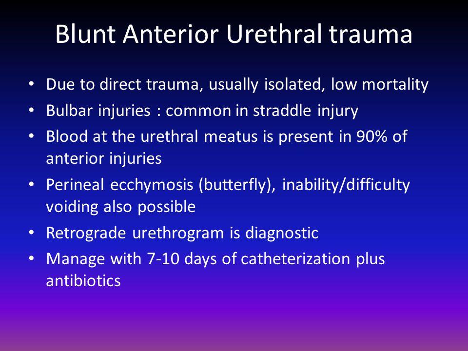 Blunt Anterior Urethral trauma