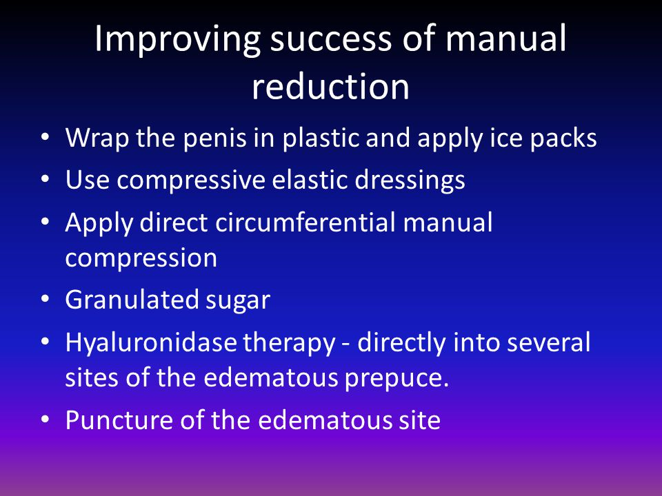 Improving success of manual reduction