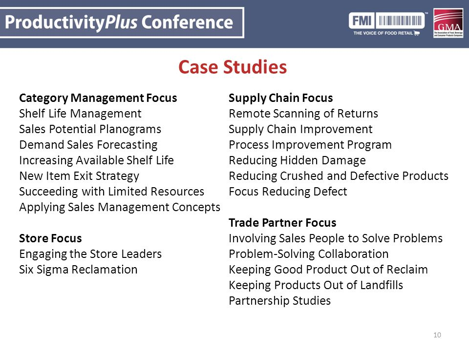 Case Studies Category Management Focus Supply Chain Focus