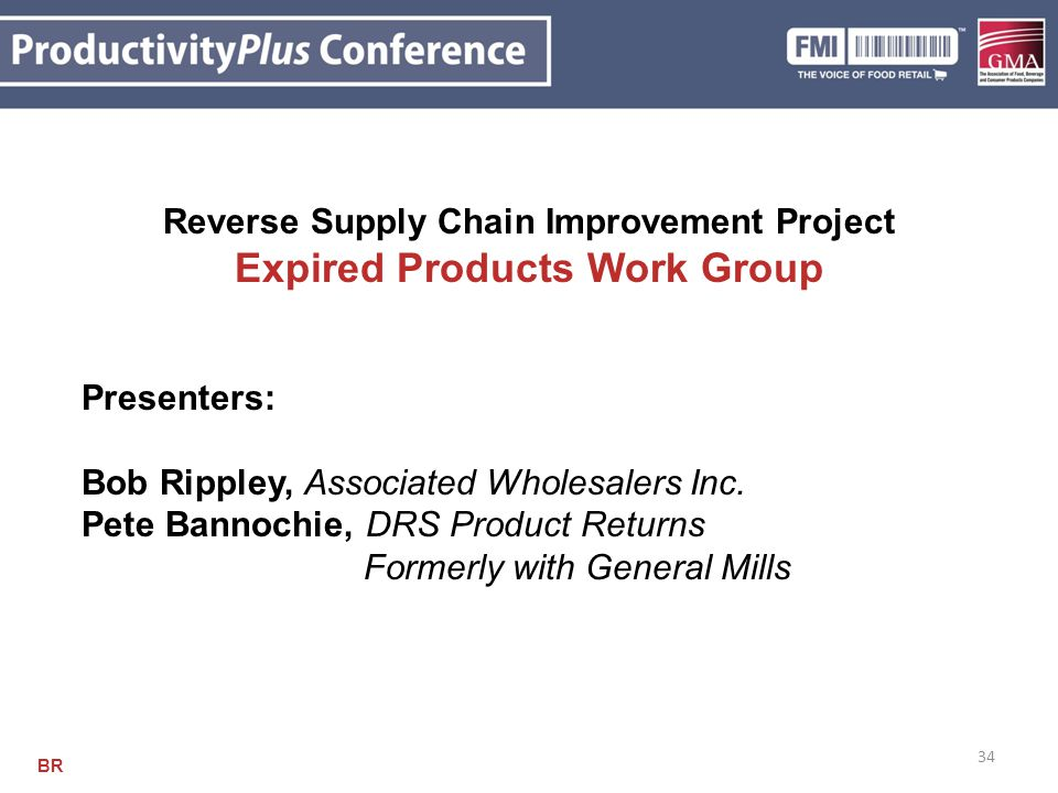 Reverse Supply Chain Improvement Project Expired Products Work Group
