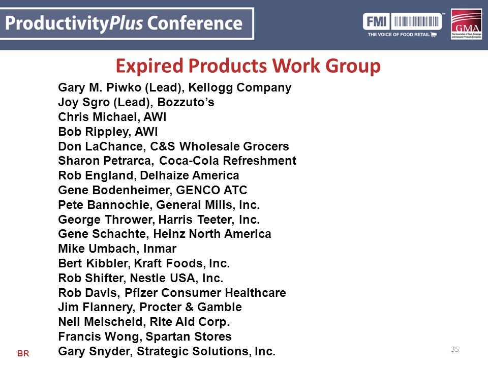 Expired Products Work Group