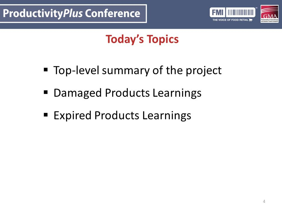 Top-level summary of the project Damaged Products Learnings