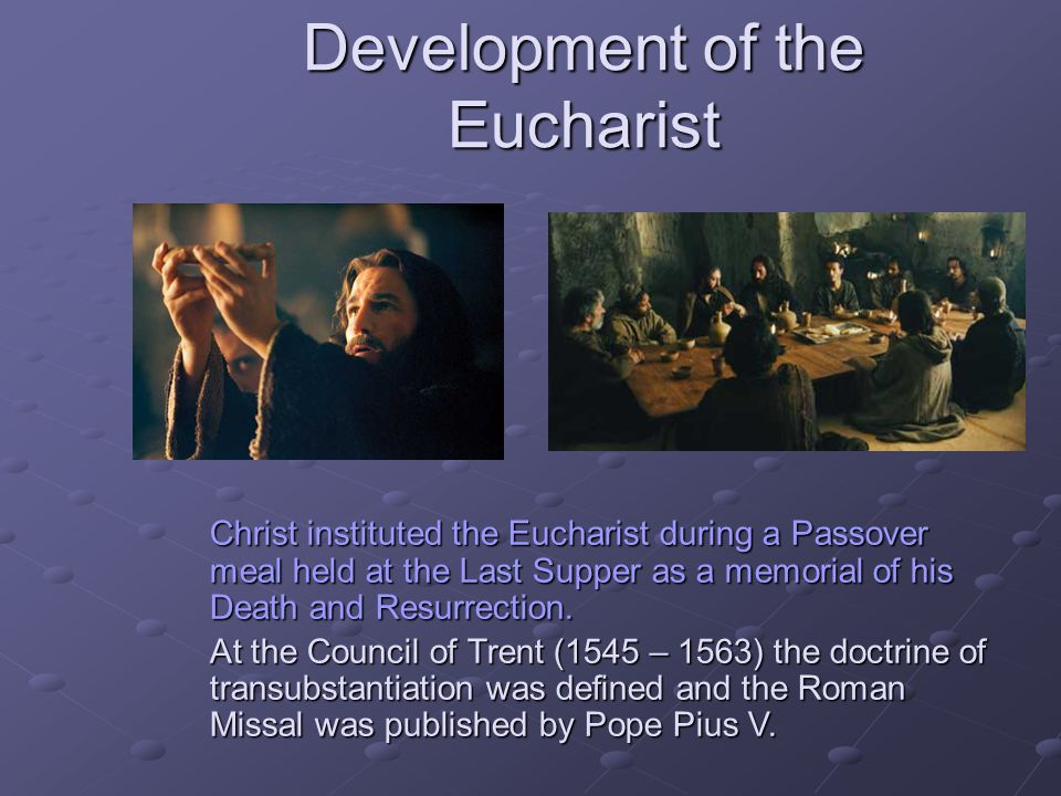 Development of the Eucharist