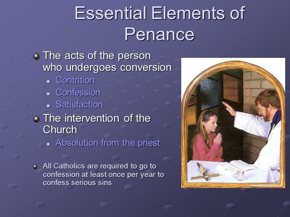 Essential Elements of Penance