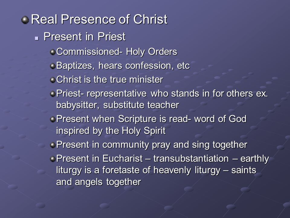 Real Presence of Christ