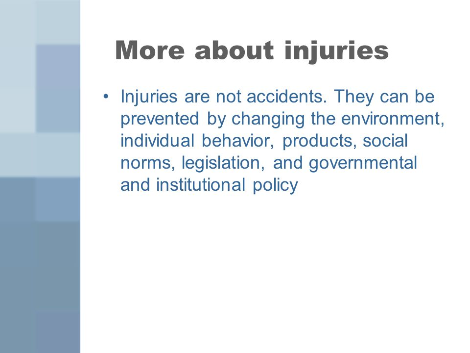 More about injuries