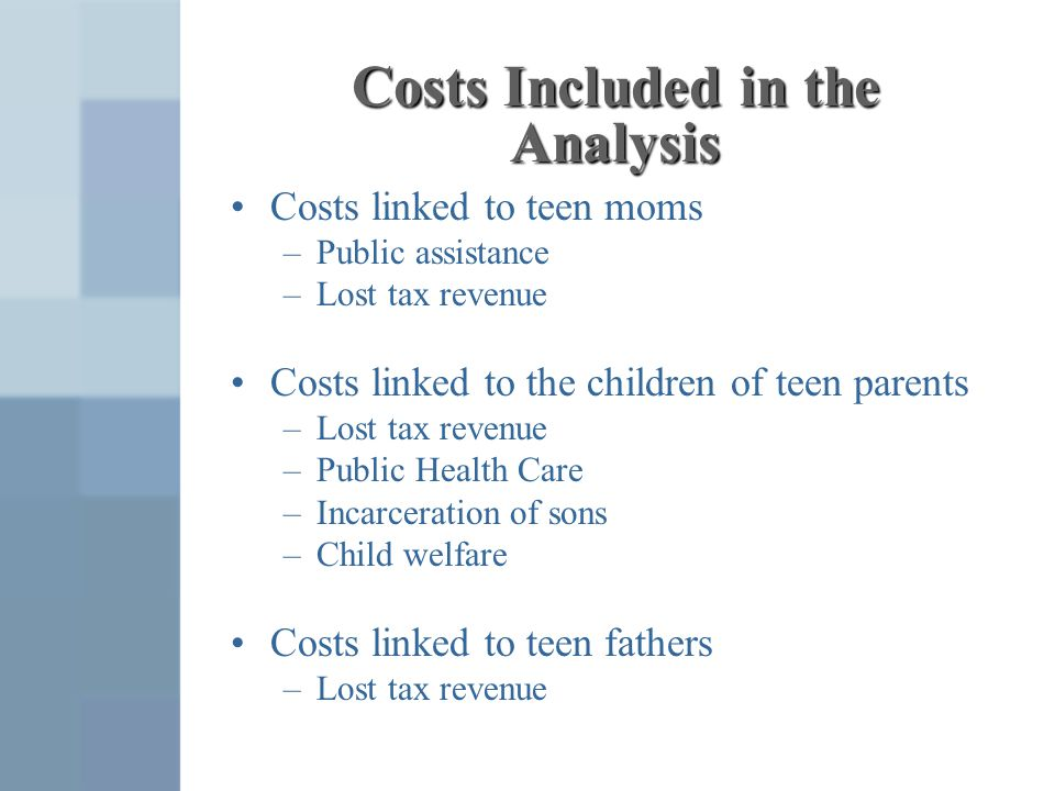 Costs Included in the Analysis