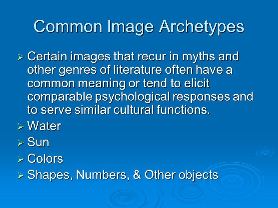 Common Image Archetypes