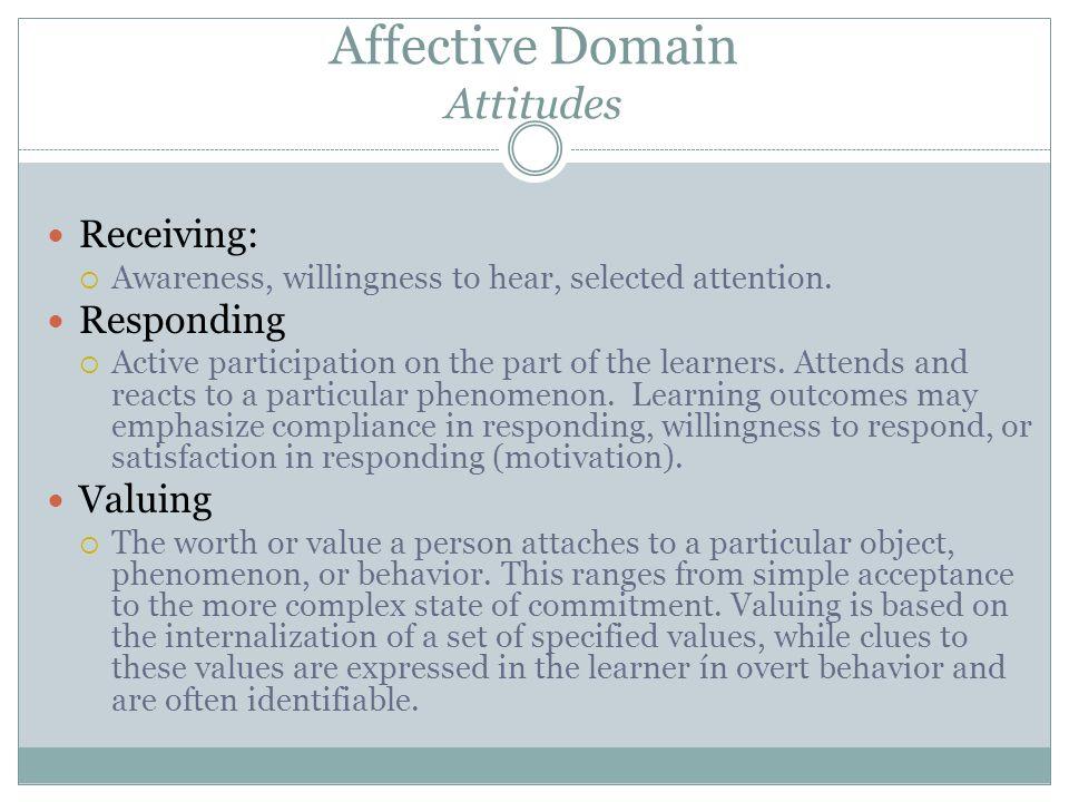 Affective Domain Attitudes
