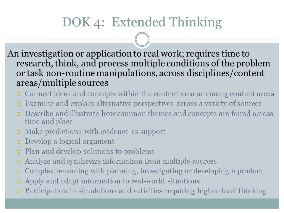 DOK 4: Extended Thinking