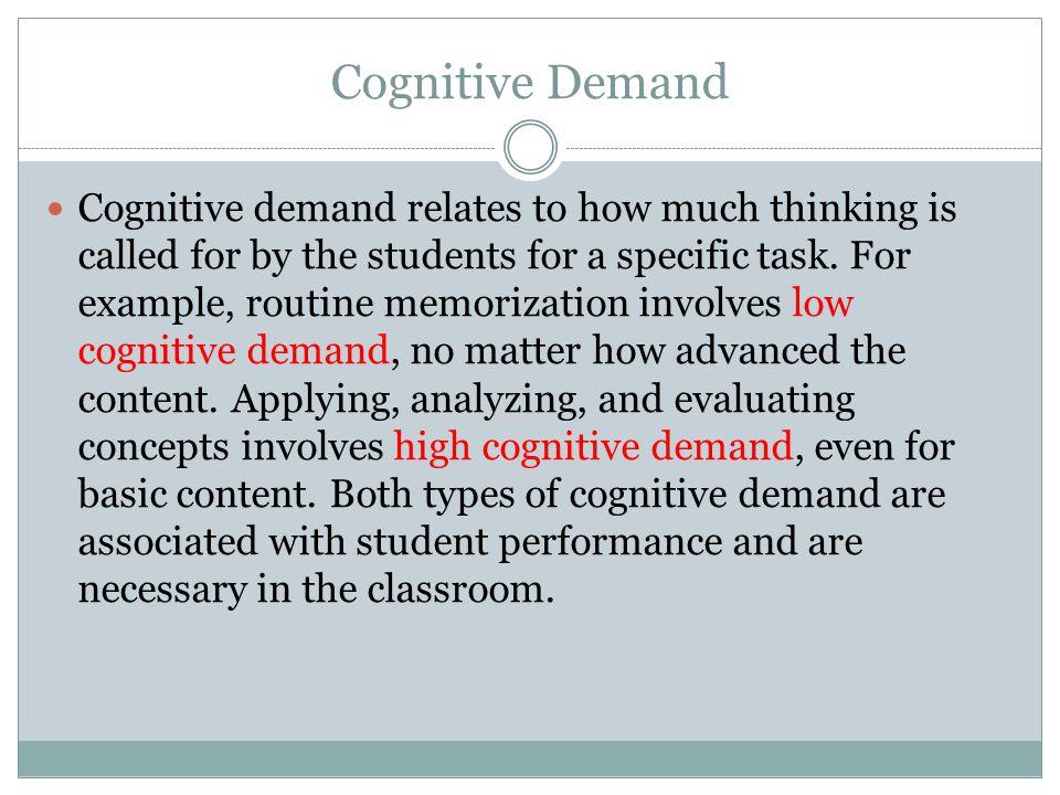 Cognitive Demand