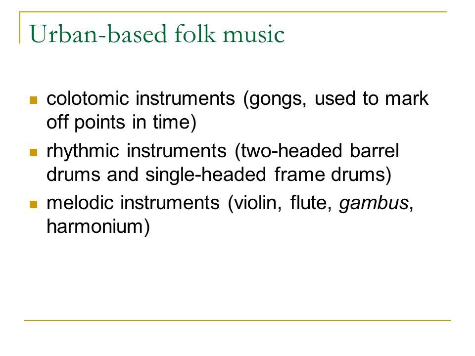 Urban-based folk music