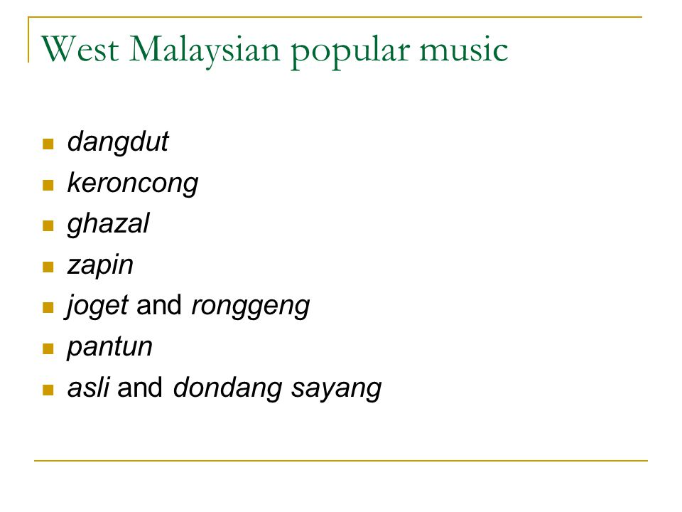 West Malaysian popular music