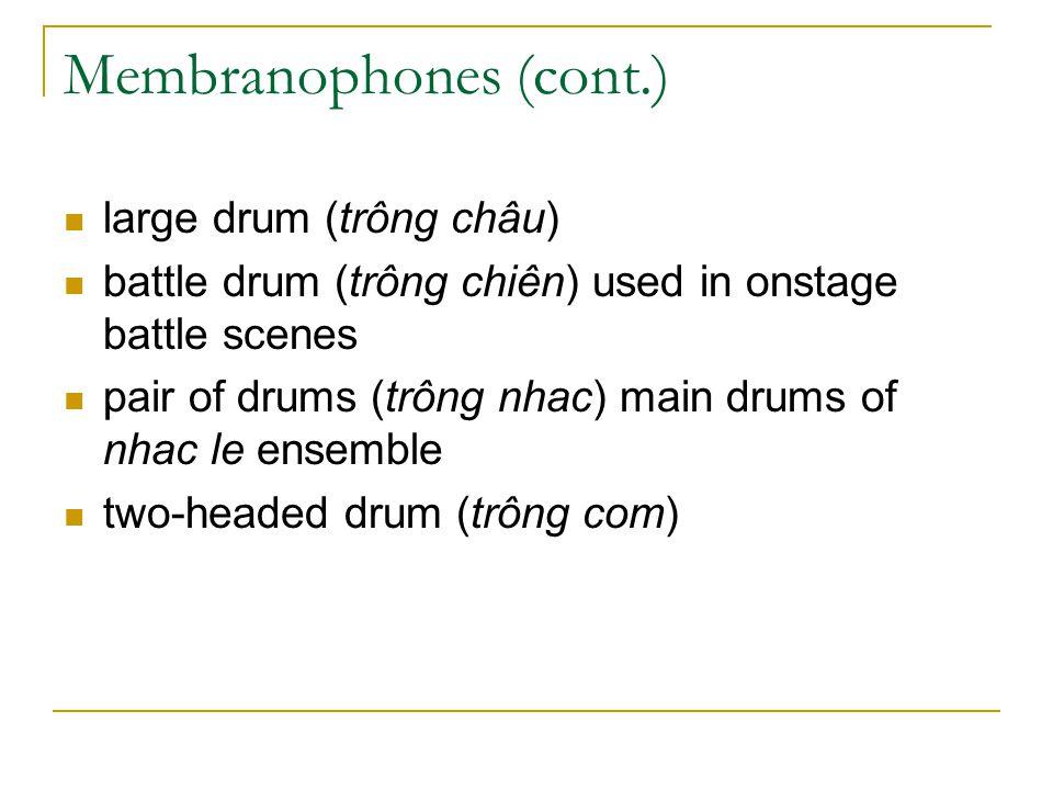 Membranophones (cont.)