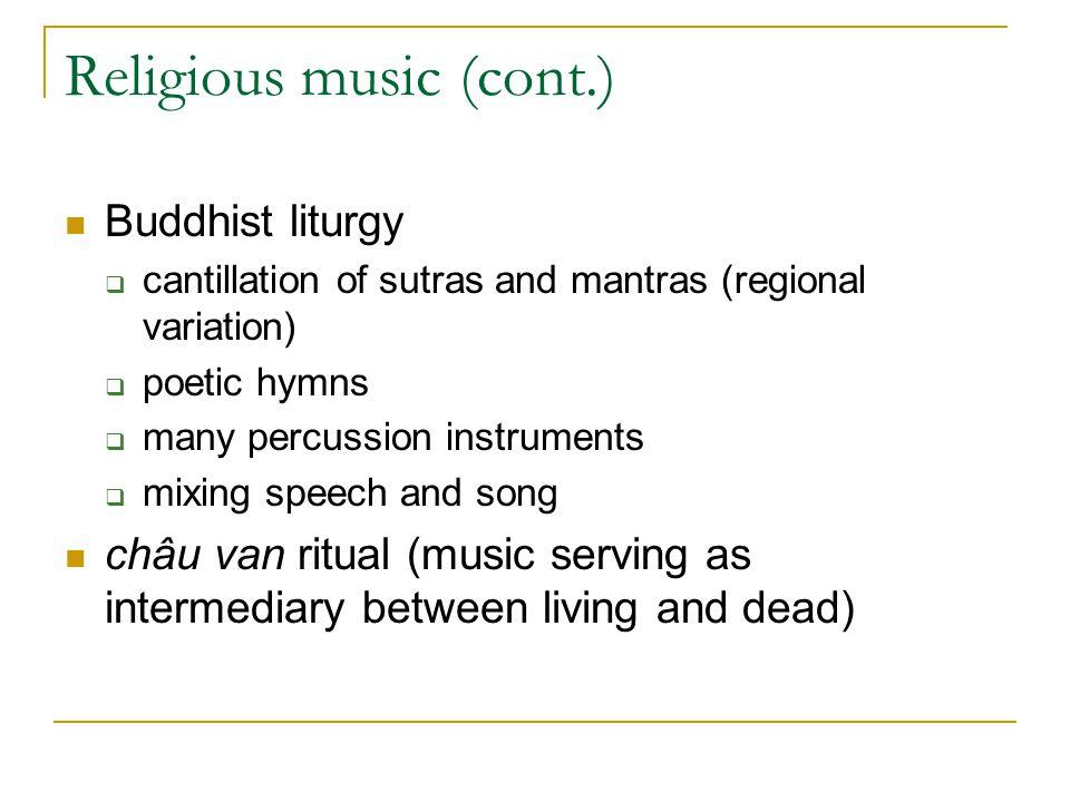 Religious music (cont.)