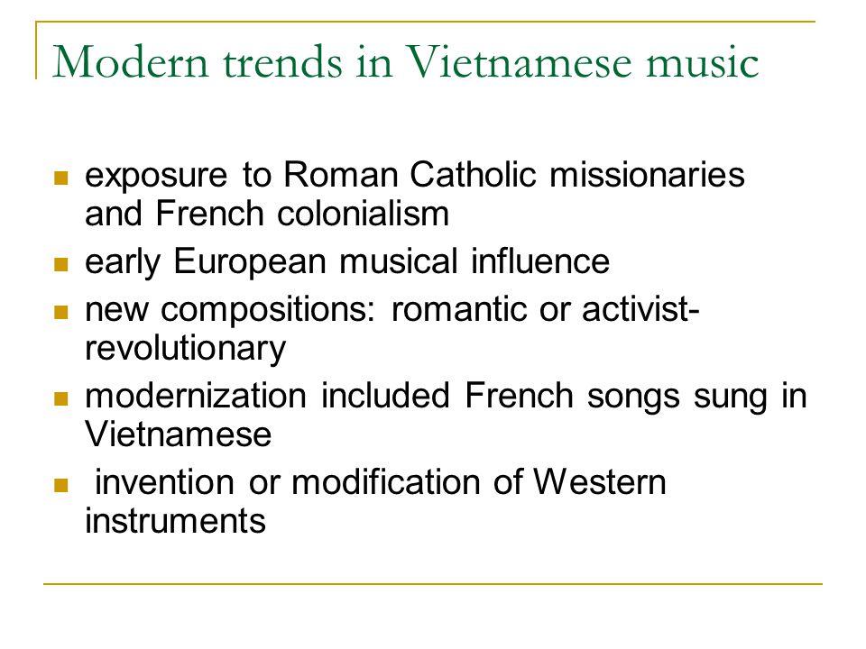 Modern trends in Vietnamese music