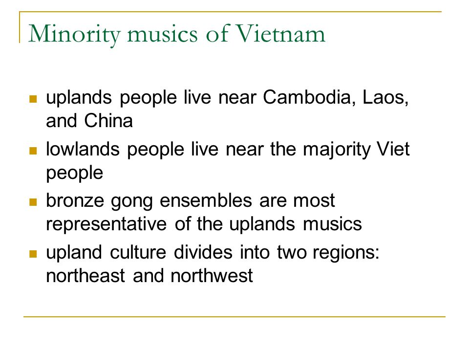 Minority musics of Vietnam