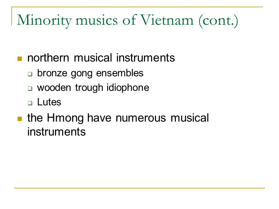 Minority musics of Vietnam (cont.)