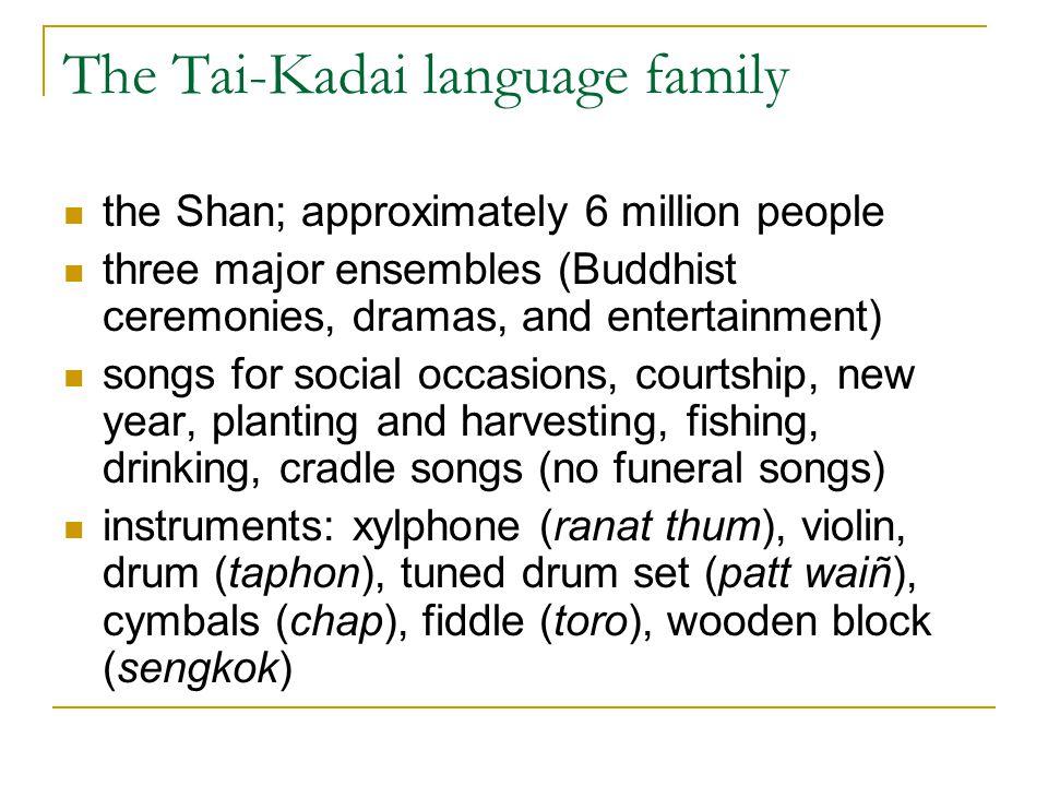 The Tai-Kadai language family