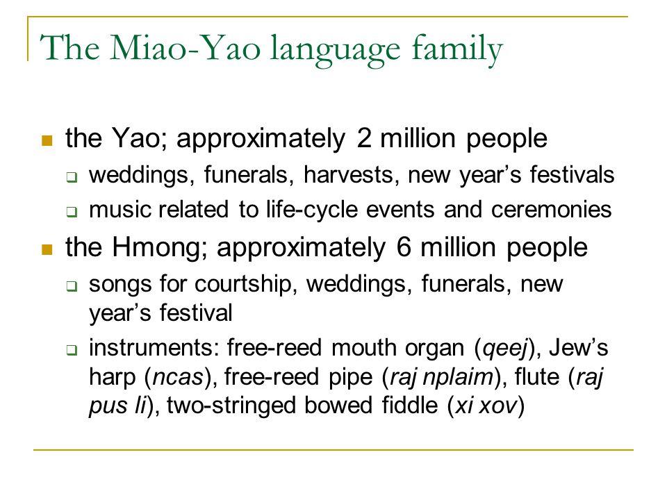 The Miao-Yao language family