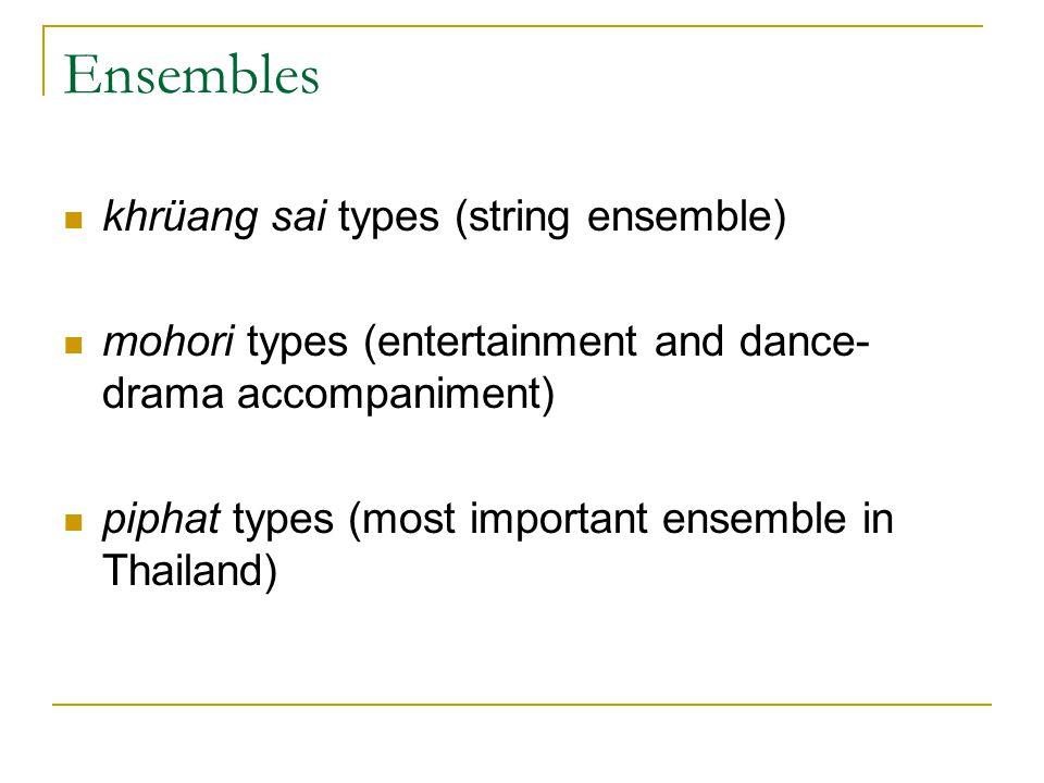 Ensembles khrüang sai types (string ensemble)