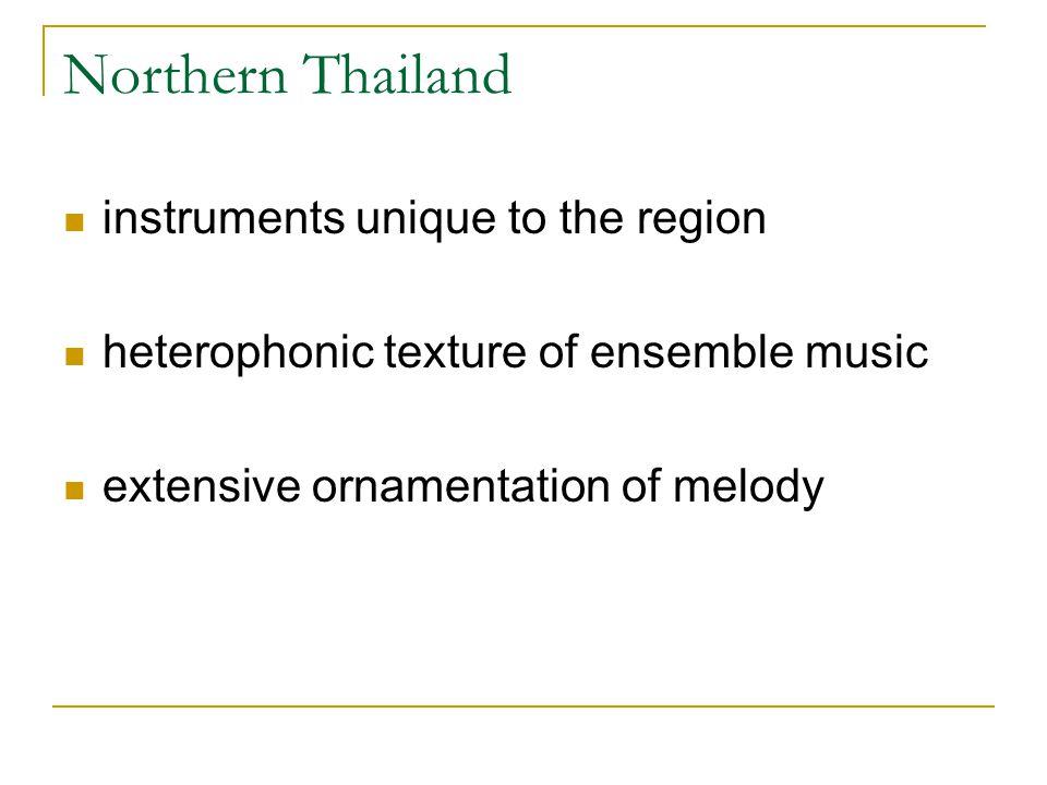 Northern Thailand instruments unique to the region