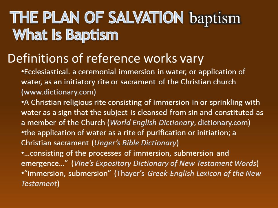 The Plan of Salvation baptism What Is Baptism