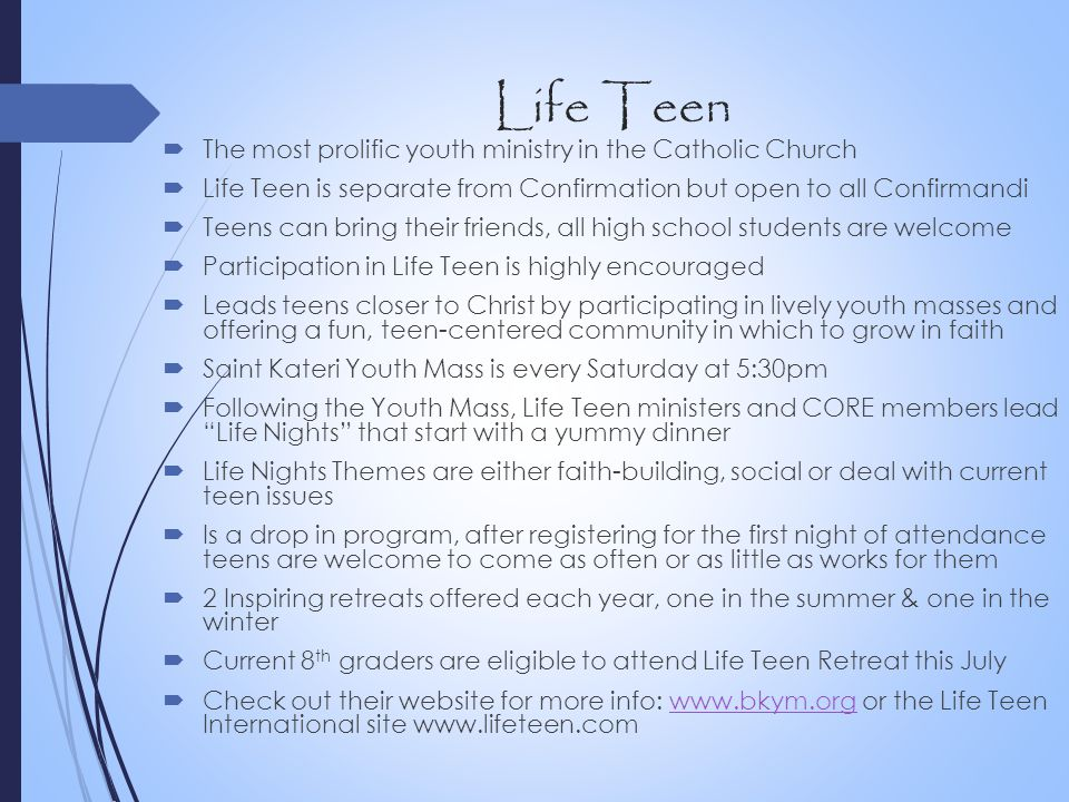 Life Teen The most prolific youth ministry in the Catholic Church