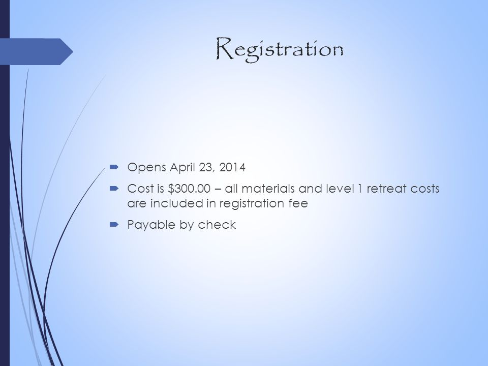 Registration Opens April 23, 2014