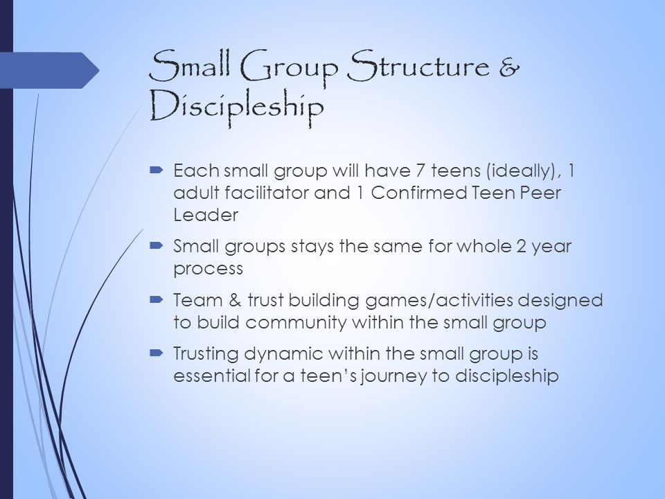 Small Group Structure & Discipleship