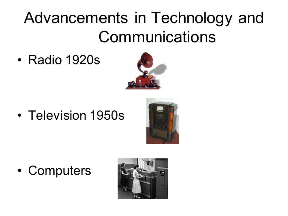Advancements in Technology and Communications