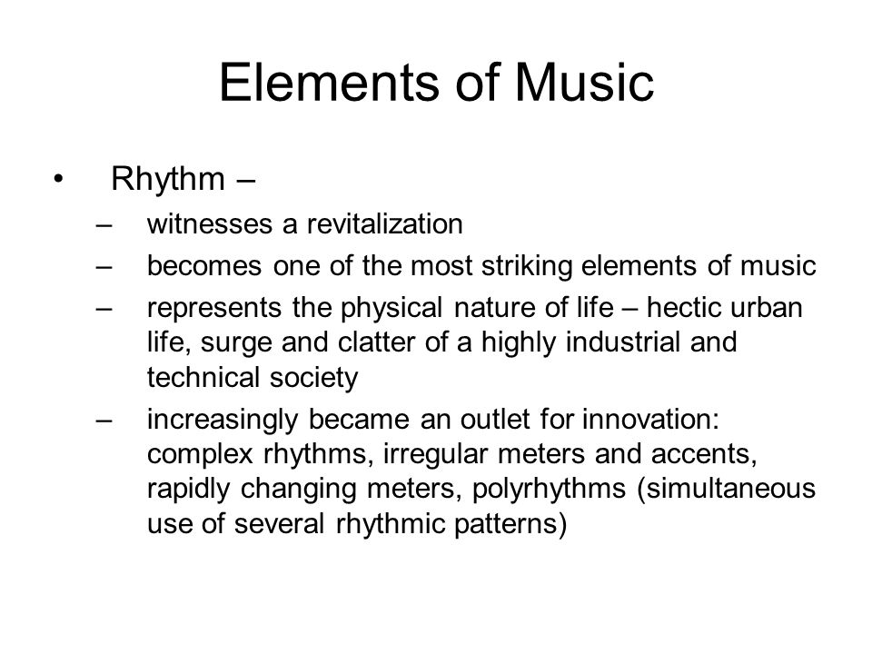 Elements of Music Rhythm – witnesses a revitalization