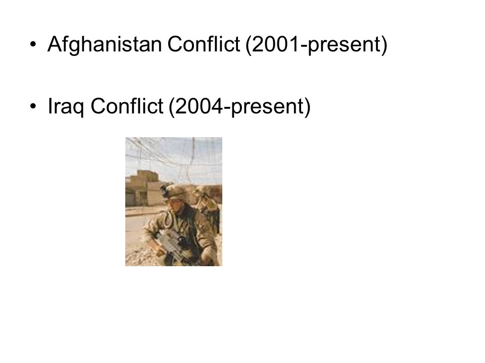 Afghanistan Conflict (2001-present)