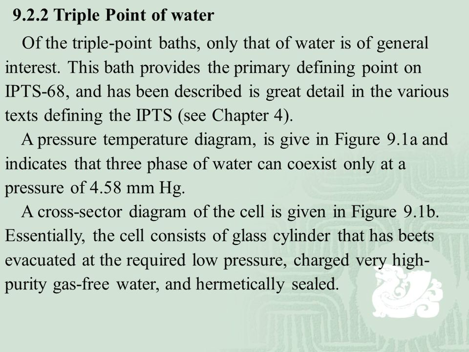 9.2.2 Triple Point of water