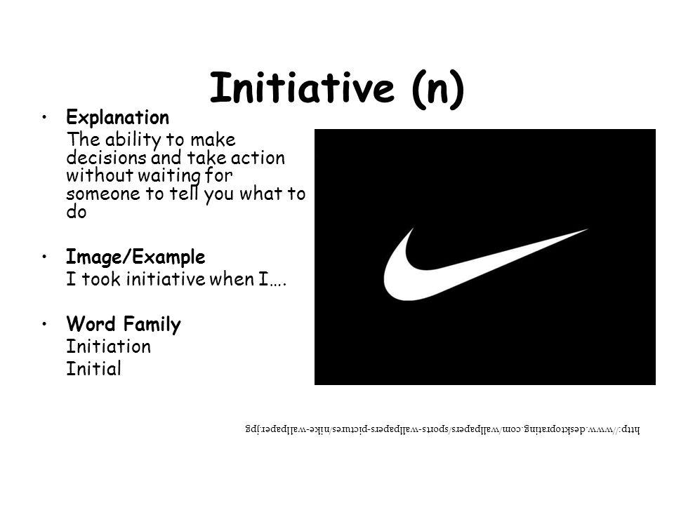 Initiative (n) Explanation