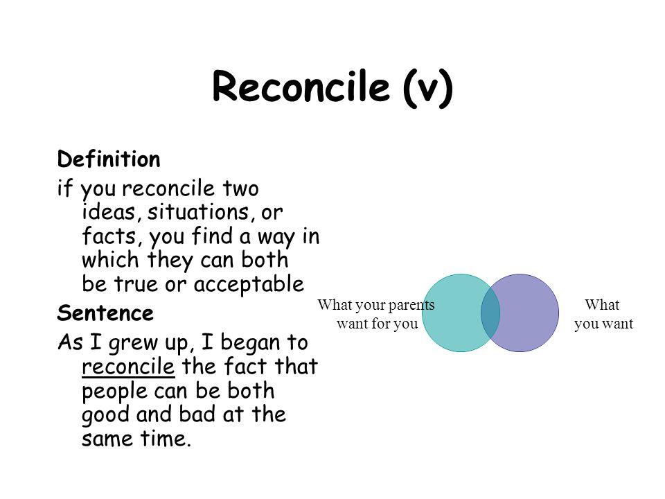 Reconcile (v) Definition