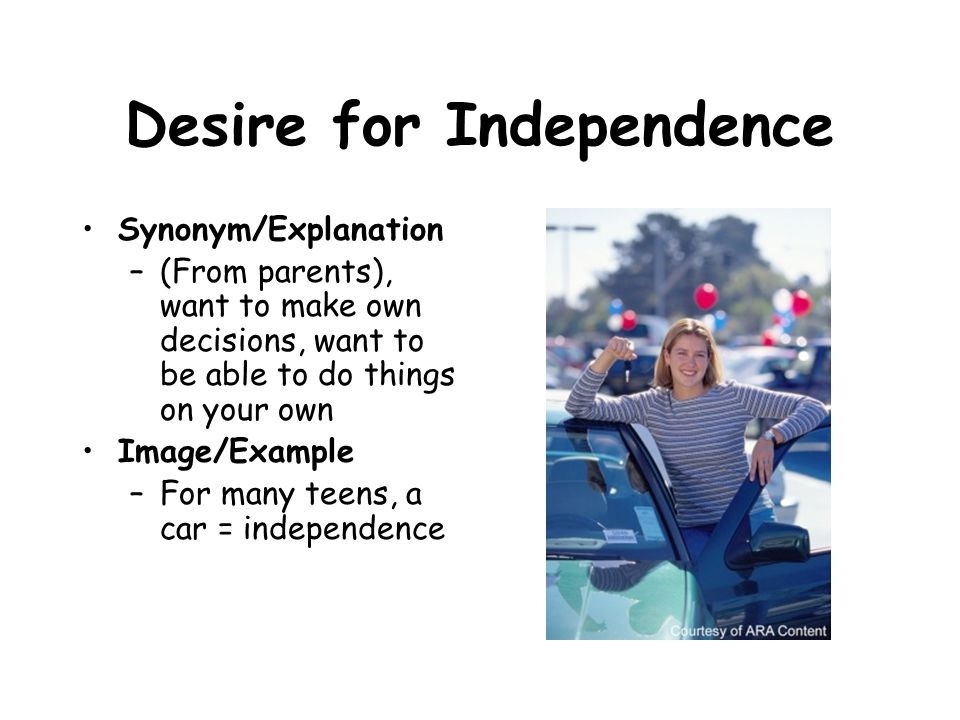 Desire for Independence