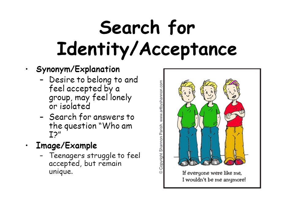 Search for Identity/Acceptance