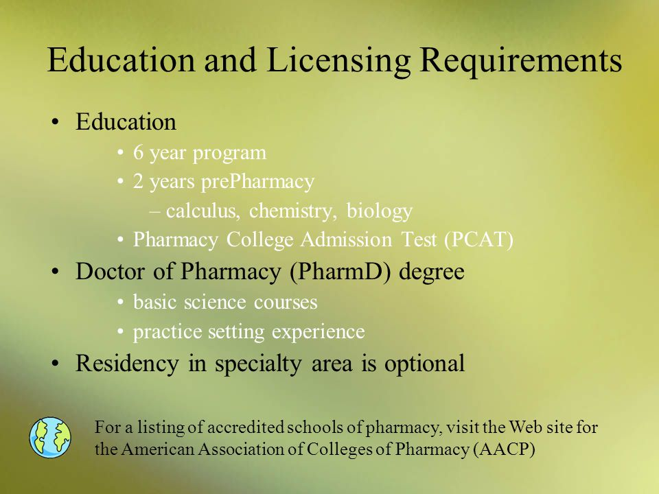 Education and Licensing Requirements